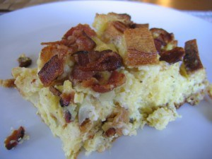 Casserole-Egg and Bacon Strata 2