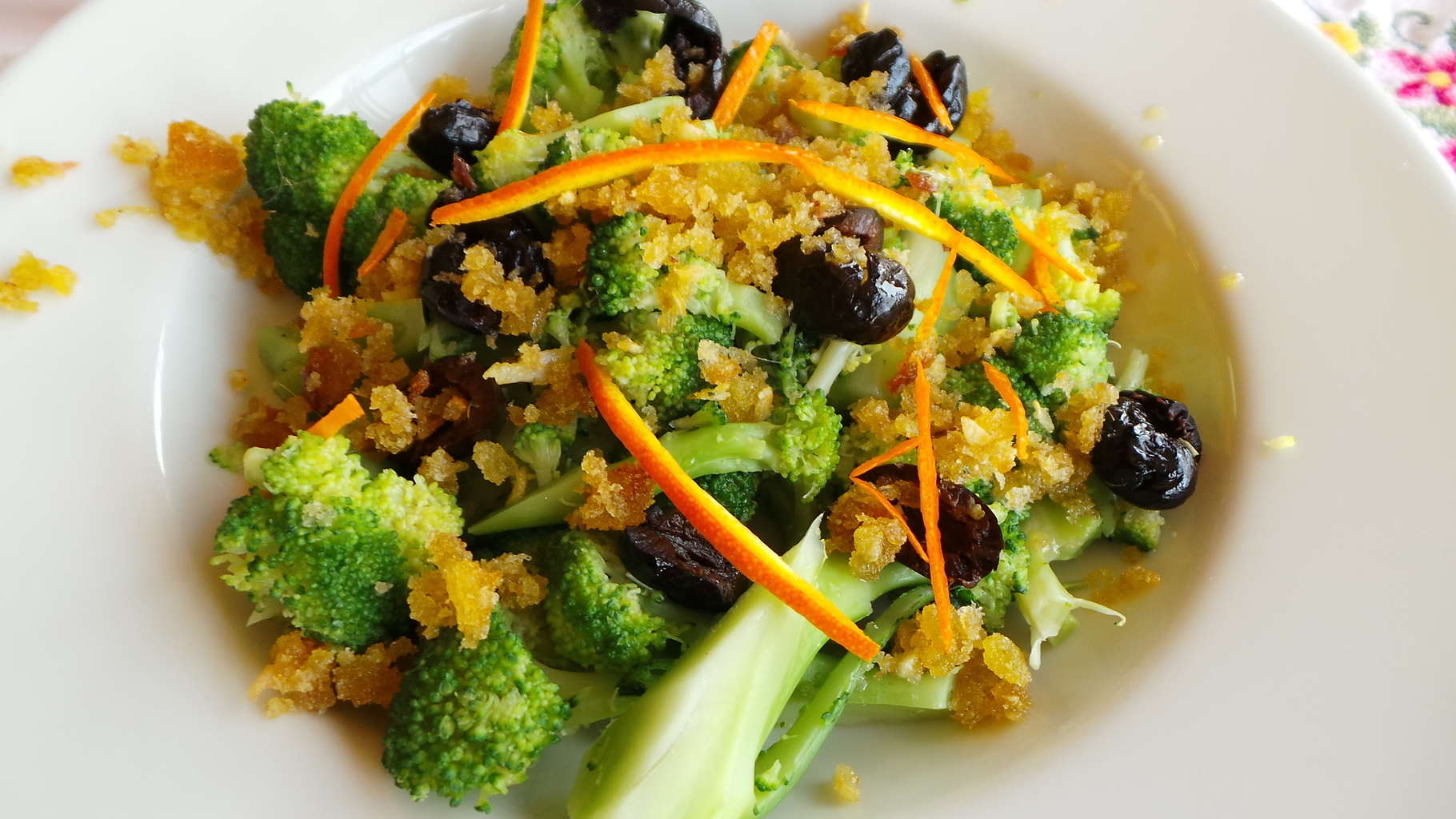 Broccoli with Golden Breadcrumbs, Oil-cured Olives, and Orange Zest (CAWCOM) (2)