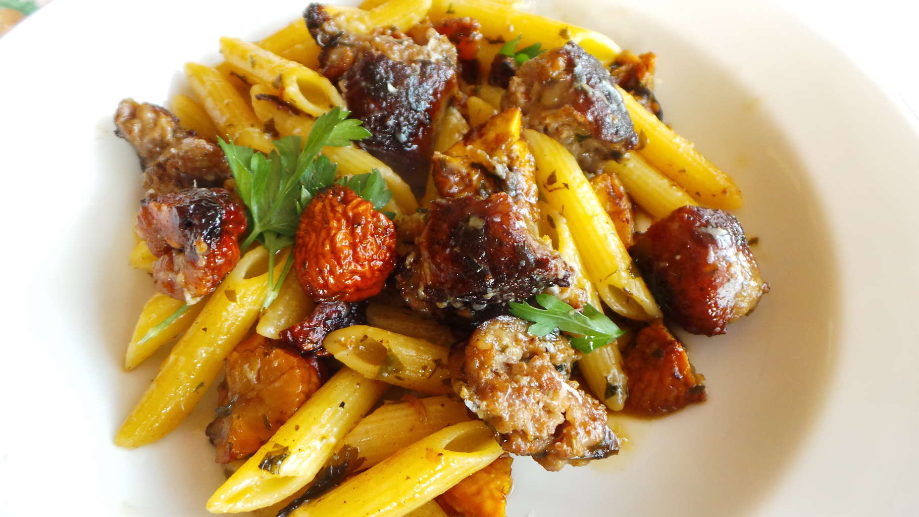 Penne Roasted Chestnuts and Sausage (CAWCOM) (3)
