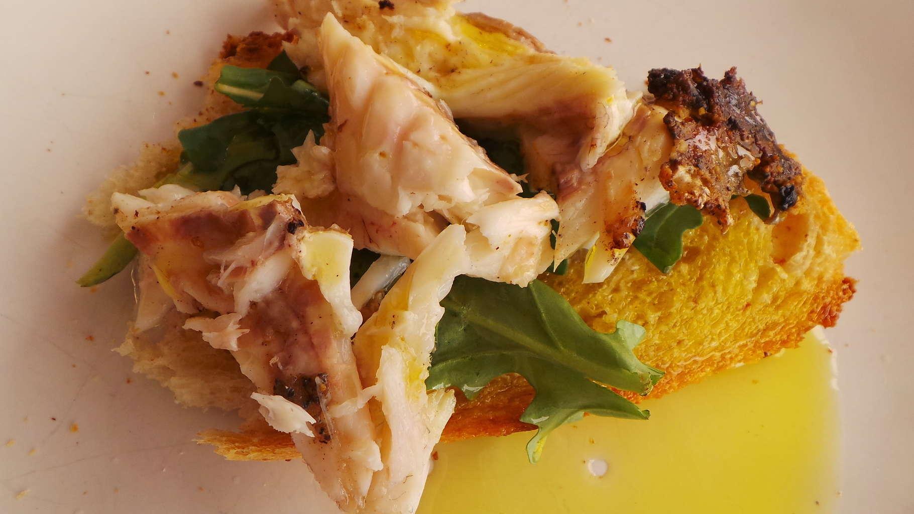 Fish and Arugula Canape (1)