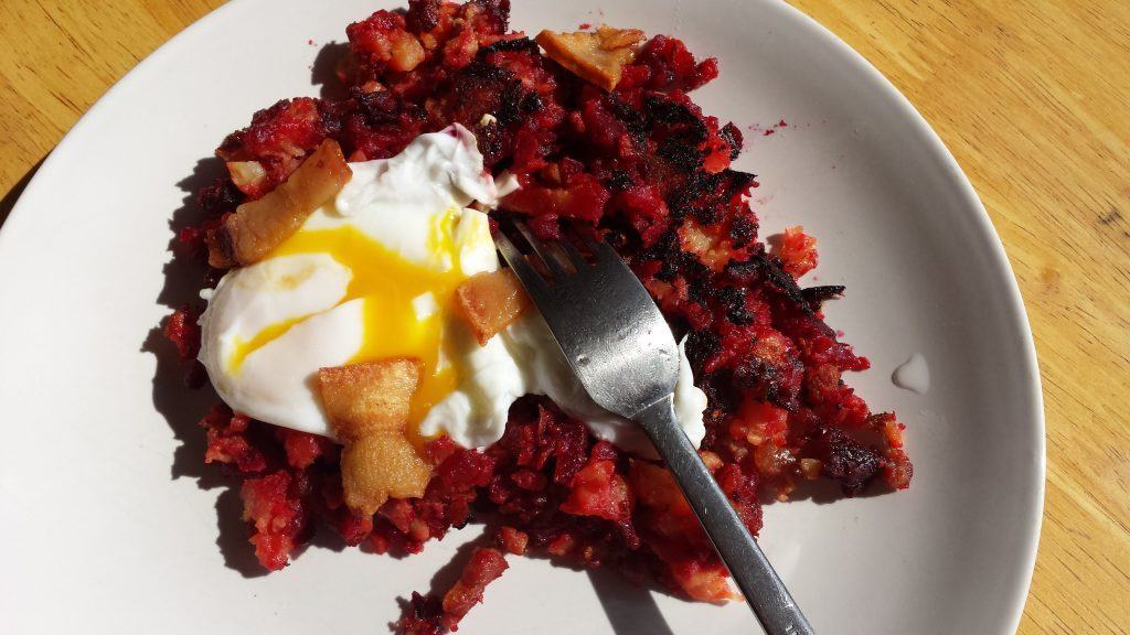 Egg with Red Flannel Hash