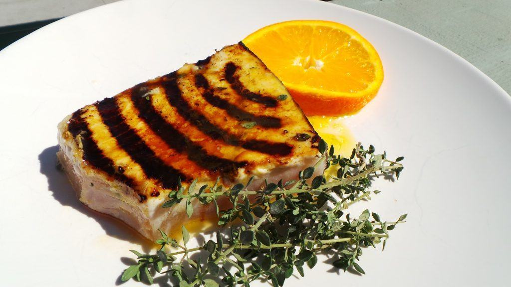 Grilled Swordfish in Fresh Orange Juice and Thyme (CAWCOM) (2)