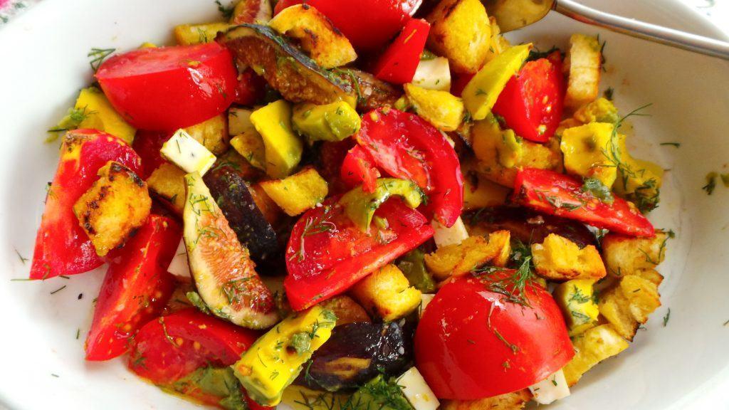 Tomato, Fig, Avocado Salad (1)