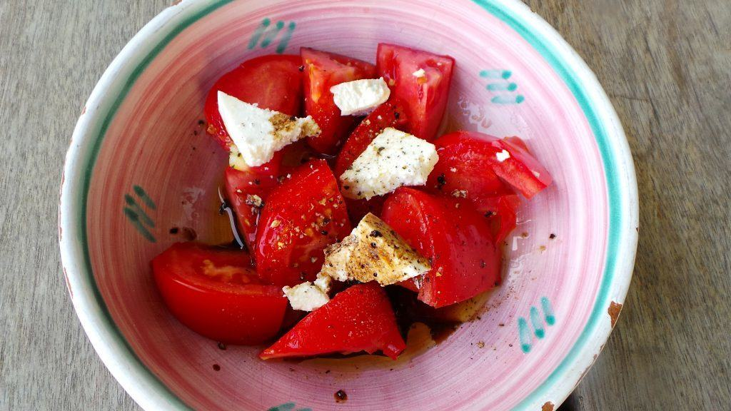 Tomatoes with Ricotta Salata