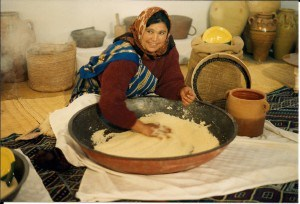 woman making couscous in Sfax, Tunisia (photo: Clifford A. Wright)