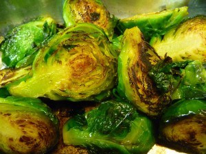 Brussels sprouts, griddled