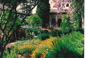 Generalife of the Alhambra in Granada, Spain