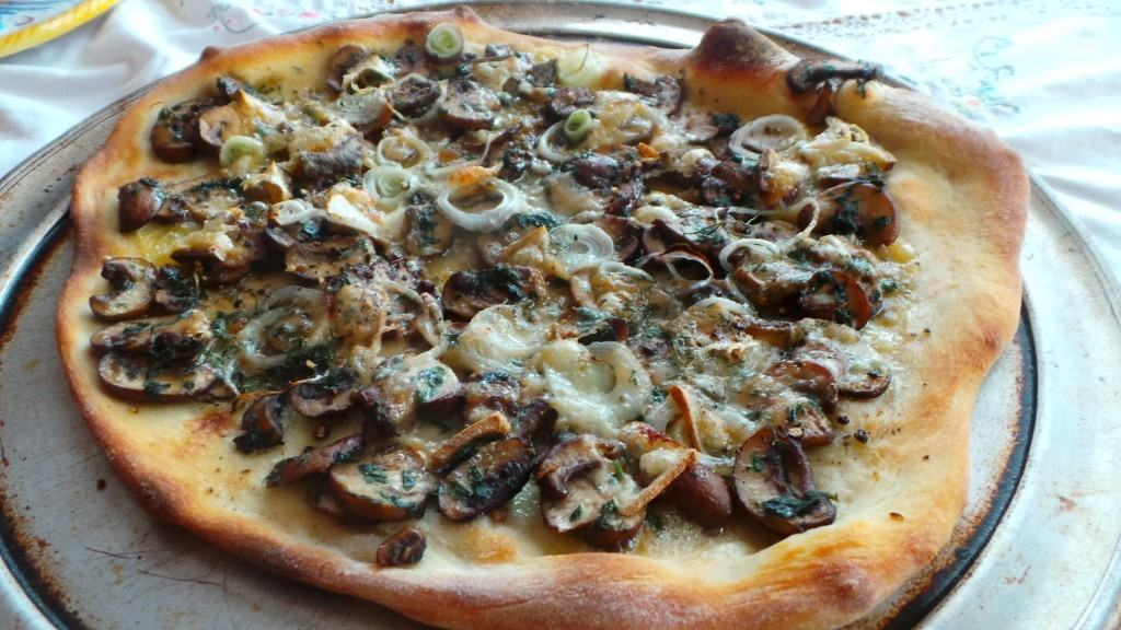 Pizza with Mushrooms (2)