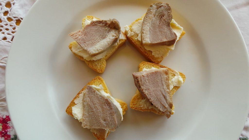 Canape of Smoked Duck and Mascarpone (1)