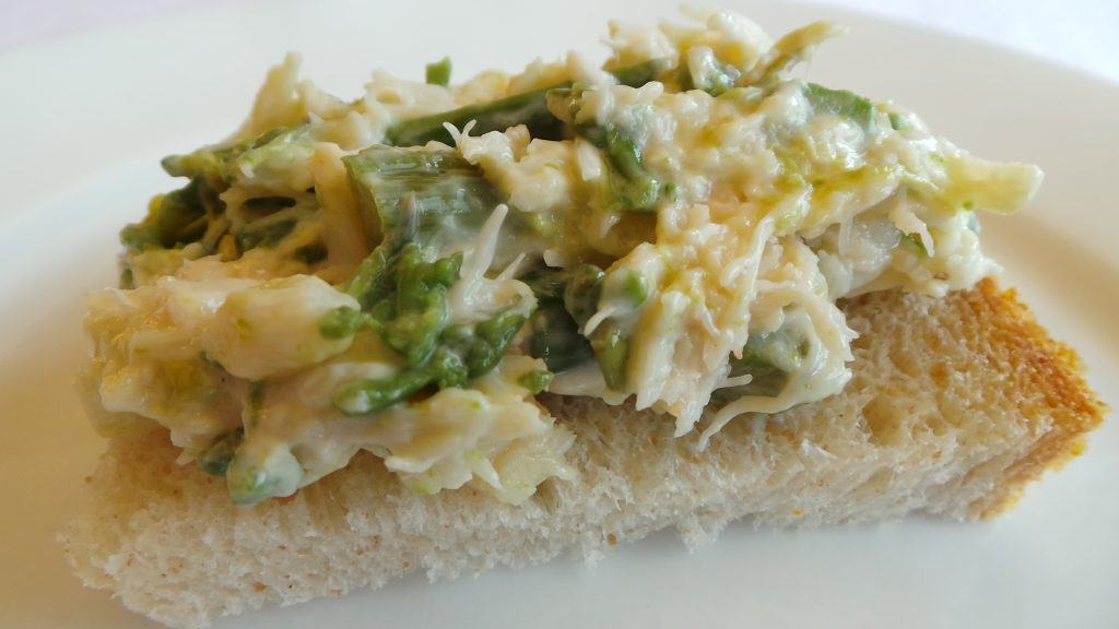 Crostini of Crab and Asparagus (2)